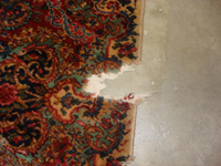 raleigh rug repair photo of damaged fringe