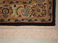 rug repair example with new fringe