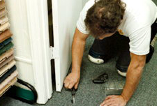 carpet repair in raleigh nc by ace rug carpet technician