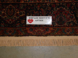 Ace Rug Fringe Repair after photo